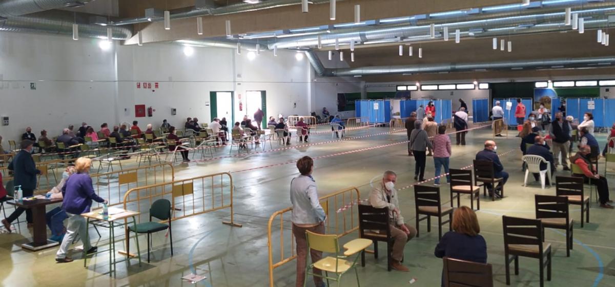 1.202 personas fueron vacunadas el fin de semana en el Palacio del Vino