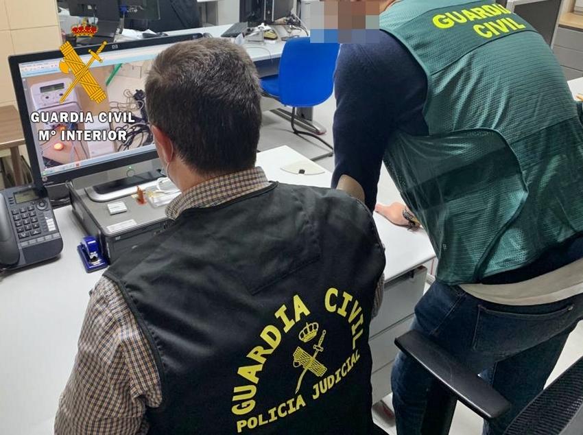 La Guardia Civil realiza una operación contra la defraudación del fluido eléctrico