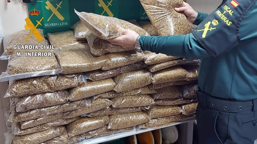 Intervienen en Almendralejo 100 kilos de picadura de tabaco de contrabando
