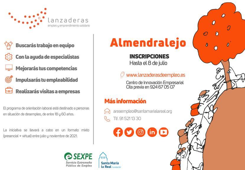 En julio Almendralejo contará con una nueva Lanzadera de Empleo que ayudará a 20 personas a buscar empleo