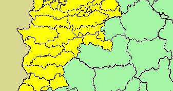 Este martes se activará la alerta amarilla en Tierra de Barros